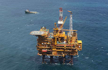 Platform F-A; production platform offshore Mosselbay