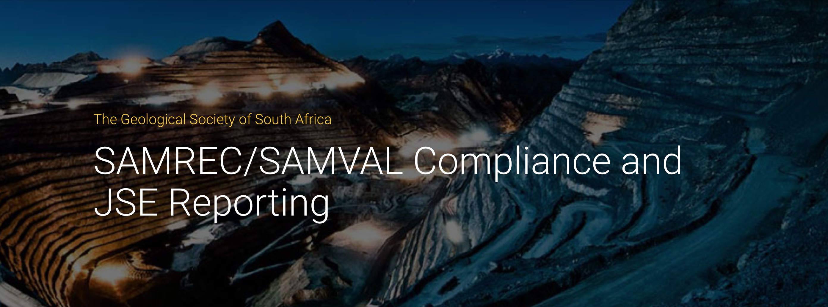 The 4th Annual SAMREC/SAMVAL Compliance and JSE Reporting Workshop